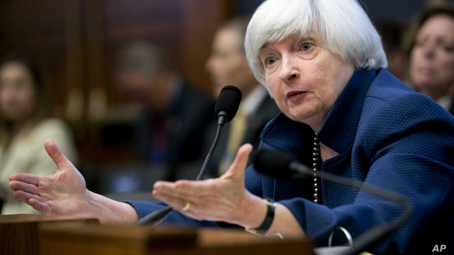 Federal Reserve Chair Janet Yellen testifies on Capitol Hill in Washington, July 12, 2017, before the House Financial Services Committee to give the semiannual monetary policy report to the Congress.