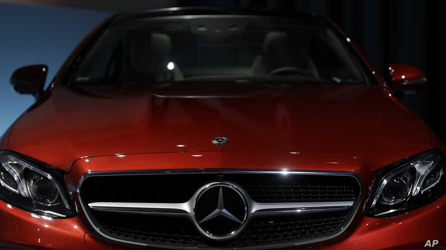 FILE - The front end of a Mercedes-Benz E-Class Coupe is seen at the company's headquarters in Stuttgart, Germany, Feb. 2, 2017. E-Class cars are among those affacted by the current recall.