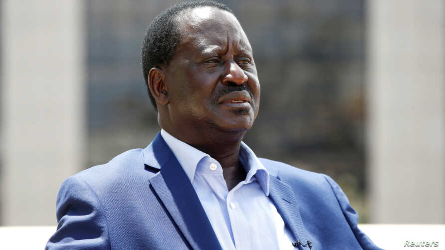 Kenyan opposition leader Raila Odinga of the National Super Alliance coalition speaks during an interview with Reuters in Nairobi, Kenya, Nov. 7, 2017.