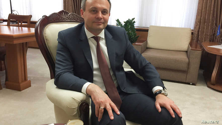 Moldovan Parliament speaker Andrian Candu poses for a picture during an interview in Chisinau, Moldova, June 5, 2017.