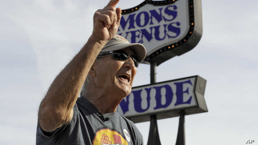 Joe Redner, an independent candidate for the Florida Senate, owns the strip club Mons Venus in Tampa, Fla. He lives in the state's politically diverse and influential I-4 corridor.i