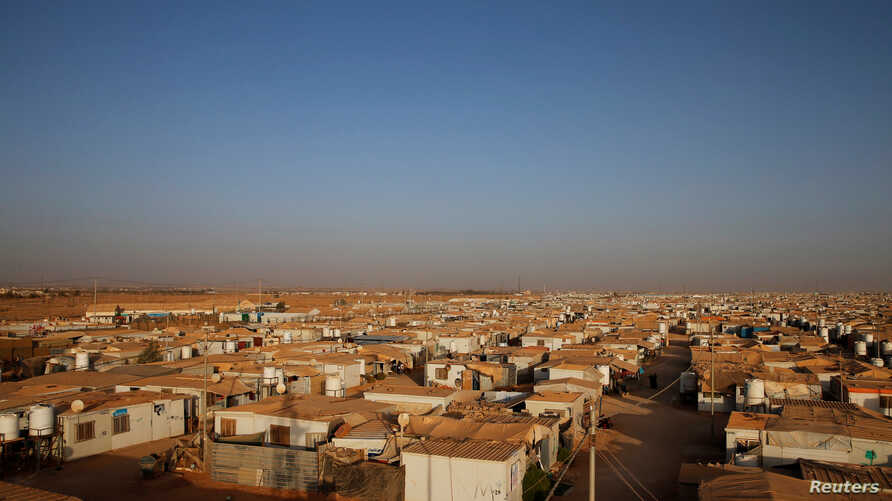 A view of Al-Zaatari Syrian refugee camp near the border with Syria, in Mafraq, Jordan, Oct. 9, 2016.