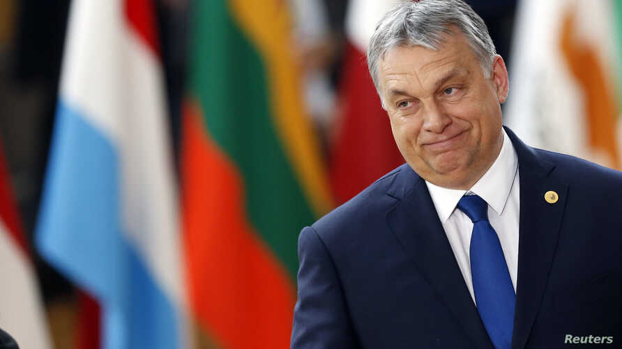 Hungarian Prime Minister Viktor Orban arrives at the EU summit in Brussels, Belgium, March 9, 2017.