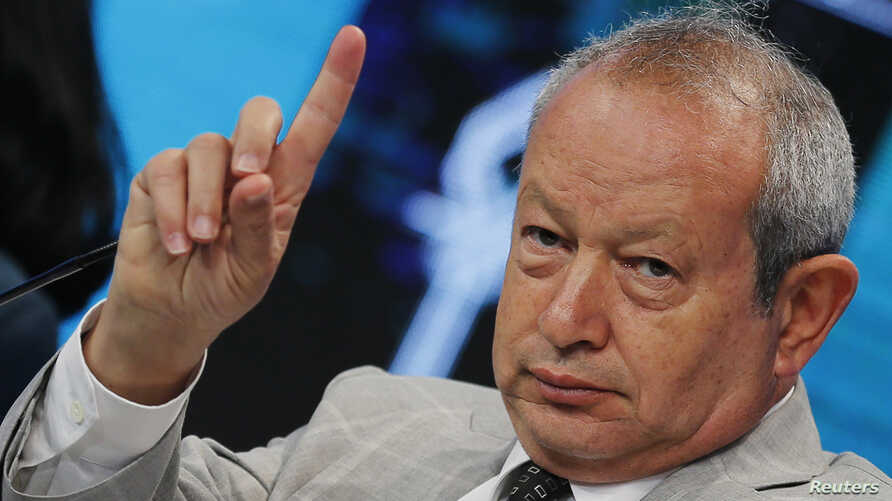 Egyptian billionaire Naguib Sawiris, seen in this March 14, 2015 file photo, condemns on Friday, Dec. 1, 2017, a crackdown on graft in Saudi Arabia, saying the purge had undermined the rule of law in the Kingdom and would deter investment.