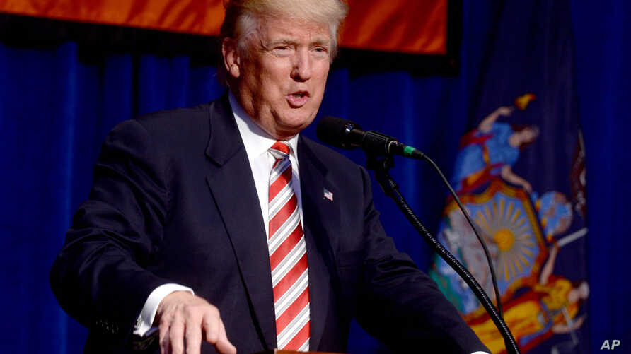 Republican presidential candidate Donald Trump speaks at the Conservative Party of New York State's 2016 presidential reception, Sept. 7, 2016.