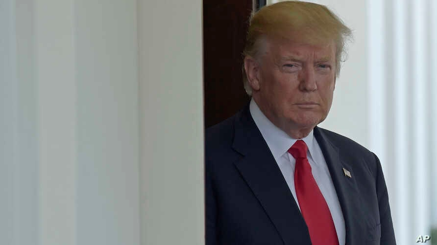 FILE - President Donald Trump at the White House.