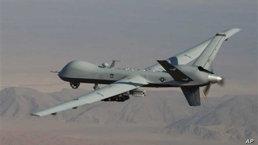 A Reaper drone patrols the skies in southern Afghanistan near the frontier with Pakistan.