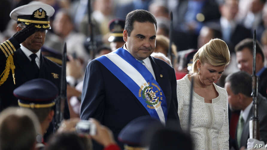 FILE – On his last day as president of El Salvador, Tony S