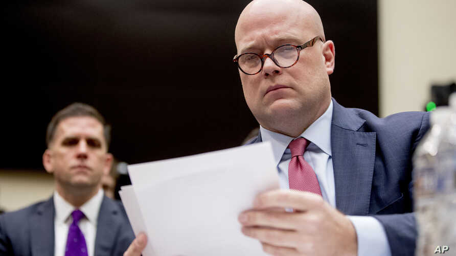 Acting Attorney General Matthew Whitaker appears before the House Judiciary Committee on Capitol Hill, Feb. 8, 2019, in Washington.