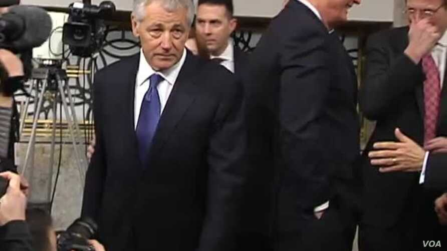 Hagel's Future at Pentagon Clouded by Stormy Senate Hearing