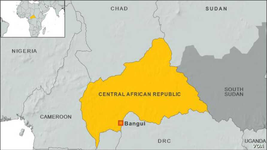 Map of Central African Republic
