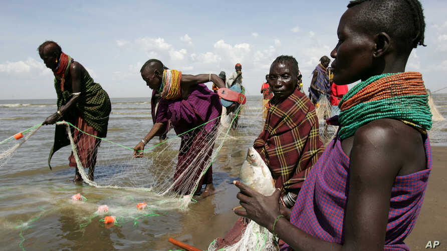Indigenous populations at Loarengak in remote northwest Kenya surrive on fish and cattle in region where survival depends on access to water from the Omo River in Ethiopia. Ethiopia is building a hydro dam that Kenyans fear threatens Kenyan livelihoo