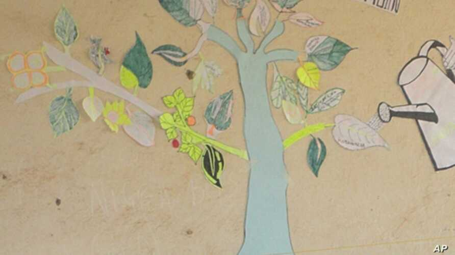 Children at AIDS camps in Rwanda are encouraged to draw a tree of hope with their life goals (file photo)