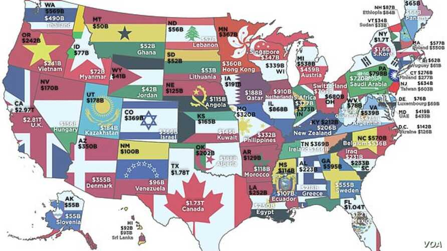 HowMuch.net produced this map based on economics Professor Mark J. Perry's analysis comparing the GDP's of US states to entire countries..