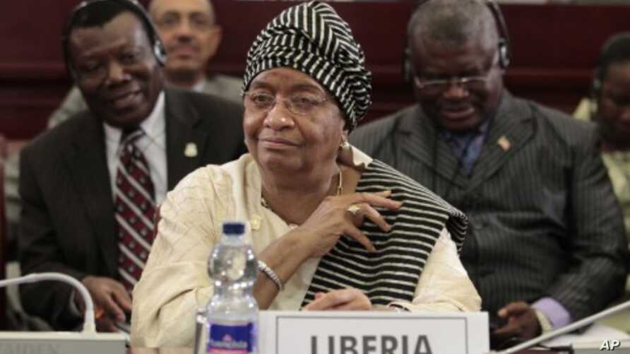 Liberian President Ellen Johnson Sirleaf looks on during the closing session of the 17th African Union Summit, at Sipopo Conference Center, outside Malabo, Equatorial Guinea (File Photo - July 1, 2011)