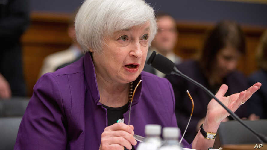 Federal Reserve Chair Janet Yellen testifies on Capitol Hill in Washington, Nov. 4, 2015, at the House Financial Services Committee hearing on banking supervision and regulation.