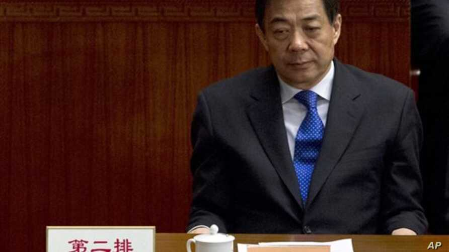 Former Chongqing Communist Party Secretary Bo Xilai attends the closing session of the Chinese People's Political Consultative Conference, in Beijing's Great Hall of the People, China, March 2012.