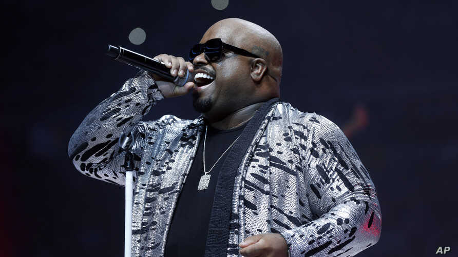 Recording artist CeeLo Green performs during halftime of an NBA basketball game between the Utah Jazz and Detroit Pistons, Oct. 28, 2015 in Auburn Hills, Mich.