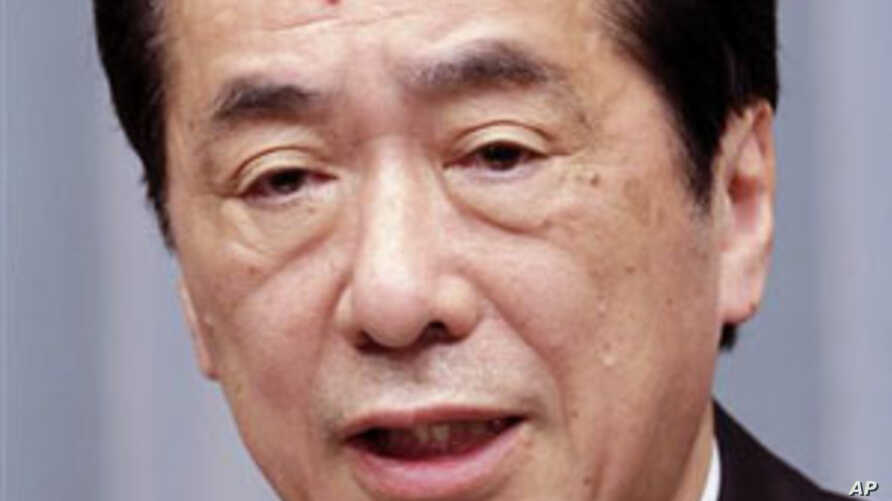 Japanese Prime Minister Naoto Kan speaks during a news conference at his official residence in Tokyo. Kan said that his government has asked Chubu Electric Power Co. to halt all three nuclear reactors at Hamaoka nuclear power plant, as a precaution a