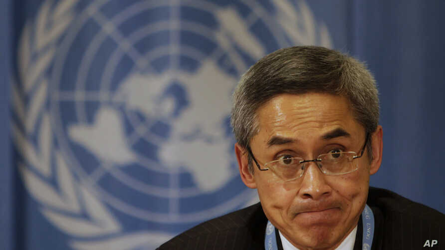 FILE - Vitit Muntarbhorn of Thailand, appointed in June as an independent U.N. investigator, has a three-year mandate to probe abuses against lesbian, gay, bisexual, transgender and intersex people.
