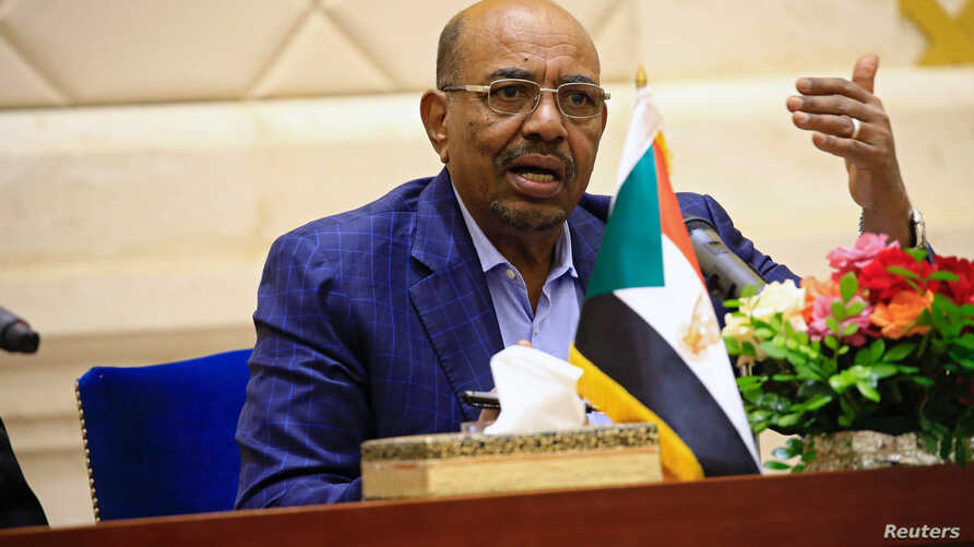 Sudan's President Omar Hassan al-Bashir speaks during a press conference at the palace in Khartoum, March 2, 2017.