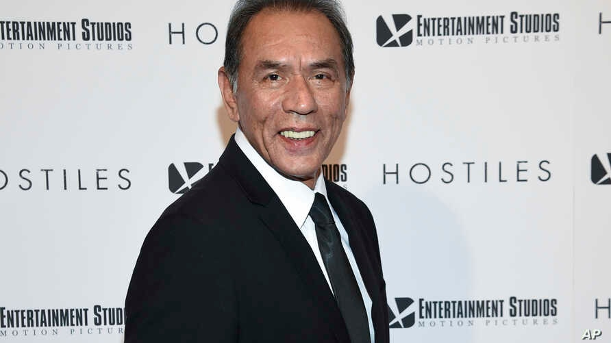 "FILE - In this Dec. 18, 2017 file photo, actor Wes Studi attends a special screening of ""Hostiles"" in New York.  Studi, whose credits include ""Avatar,"" ""The Last of the Mohicans"" and ""Dances with Wolves,"" will take the stage at Sunday's Oscars to pre"