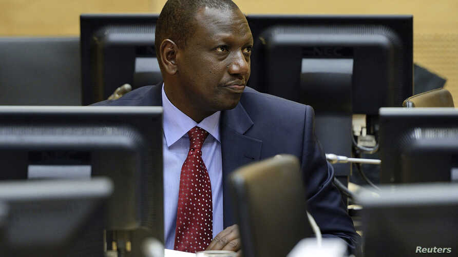 William Ruto sits in the courtroom of the International Criminal Court (ICC) in The Hague, Netherlands, May 14, 2013.