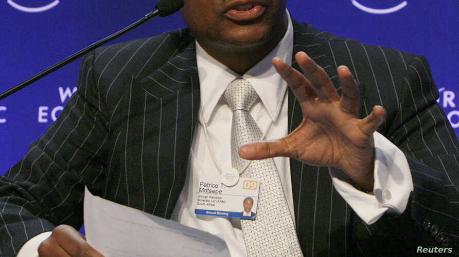 Patrice Motsepe, Executive Chairman, African Rainbow Minerals, South Africa, attends a session at the World Economic Forum (WEF) in Davos, January 30, 2009.
