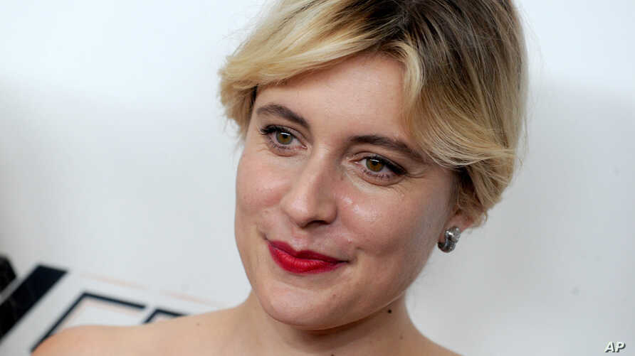FILE - Greta Gerwig is pictured at the 55th New York Film Festival, Oct. 8, 2017.