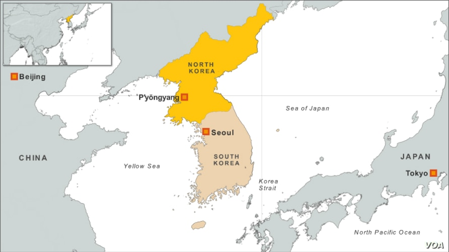 North Korea map