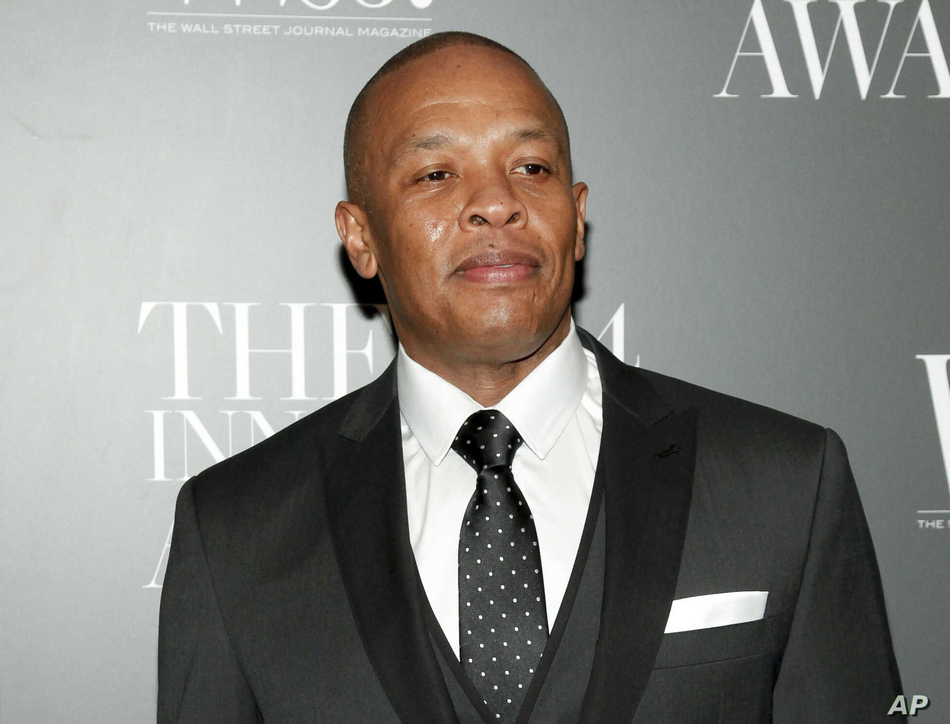 FILE - In this Nov. 5, 2014 file photo, Dr. Dre attends the WSJ. Magazine 2014 Innovator Awards at MoMA in New York. Dr. Dre has lost his trademark fight against Dr. Drai. The rapper objected to the trademark application of the Pennsylvania gynecolog