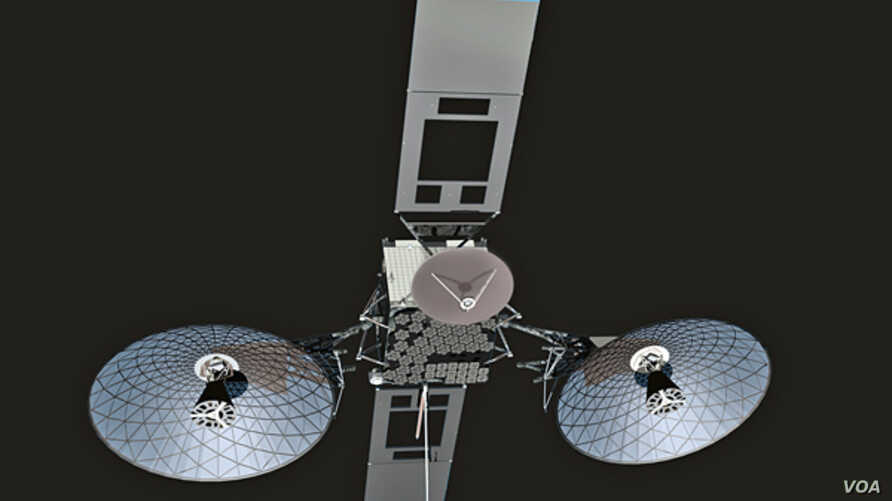 The TDRS-K satellite depicted orbiting Earth from 22,300 miles, an altitude which allows the spacecraft to reliably receive and transmit signals between spacecraft in low Earth orbit and ground stations on Earth. Artist concept: The Boeing Co.