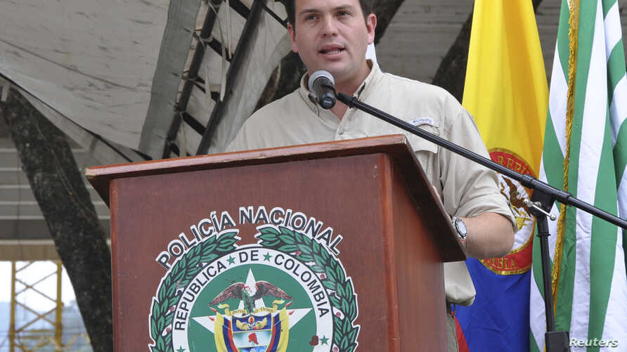 Colombia's Defence Minister Juan Carlos Pinzon (2013 photo)