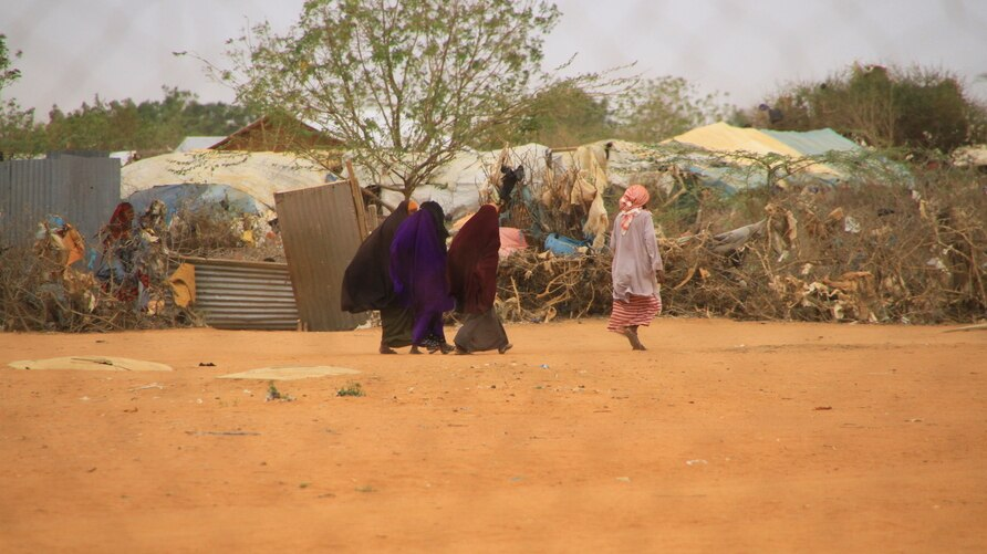 Refugees in Kenya's Dadaab refugee camp on September 19, 2