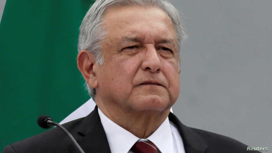 Leftist front-runner, Andres Manuel Lopez Obrador looks on after his register as presidential candidate of the National Regeneration Movement  in Mexico City, Mexico, March 16, 2018.