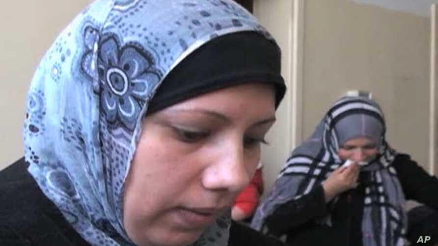 The mother of 14-tear-old Bassam Al Helou, killed recently in an Israeli attack