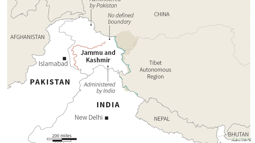 Map: Disputed Kashmir at a glance