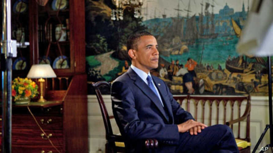 President Obama records his weekly address for July 18, 2010