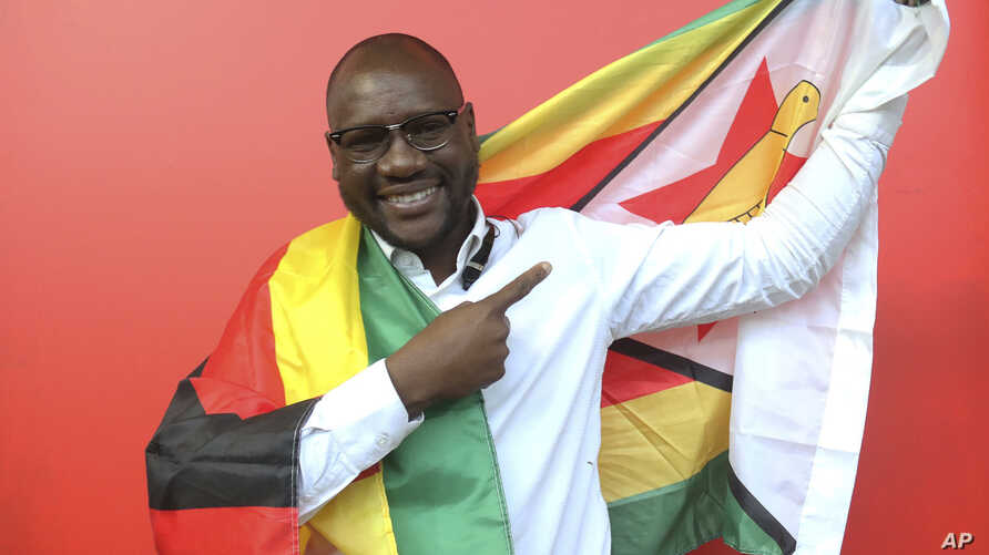 FILE - Evans Mawarire, seen in this May. 3, 2016 file photo, faces up to 20 years in prison for organizing protests against President Robert Mugabe in New York