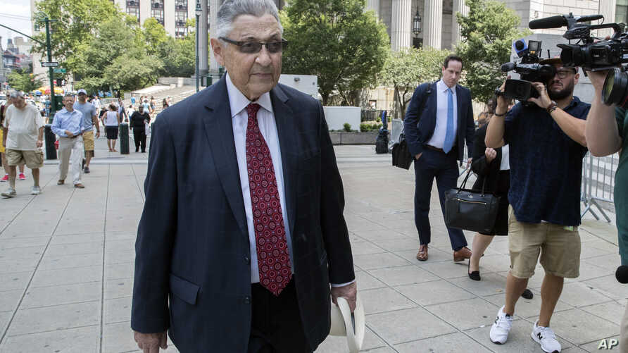 Former New York Assembly Speaker Sheldon Silver arrives at federal court in New York, July 27, 2018.