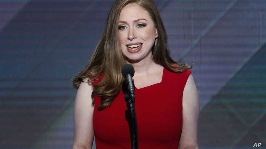 Chelsea Clinton, daughter of Democratic presidential nominee Hillary Clinton speaks during the final day of the Democratic National Convention in Philadelphia, July 28, 2016.