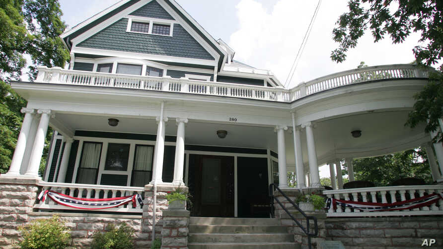 FILE - The home of president Warren G. Harding is seen in Marion, Ohio, July 21, 2008. Plans are to build a 15,000-square-foot presidential center at the property by 2020.