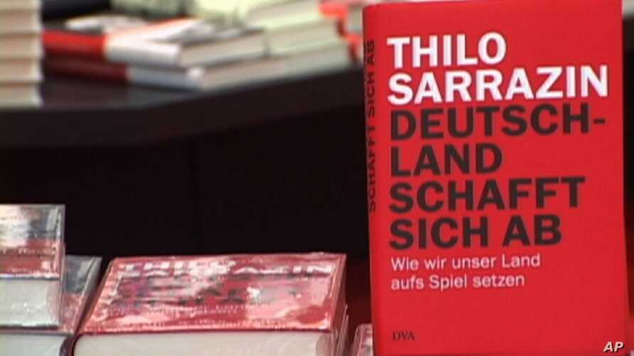 """Thilo Sarazzin's book """"Germany Does Itself In"""" is a bestseller that accuses immigrants of damaging Germany by not integrating into society. Sarrazin's polemic chastising of Muslims in particular led the executive board of the center-left Social Democ"""