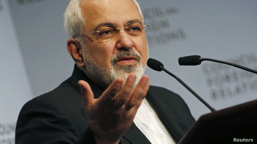 Iranian Foreign Minister Mohammad Javad Zarif addresses the Council on Foreign Relations in New York ahead of next week's United Nations General Assembly, September 17, 2014.