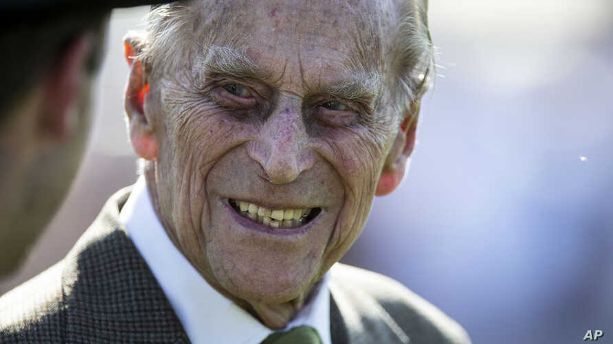 FILE - Prince Philip is pictured at the Royal Windsor Cup Final at the Guards Polo Club at Smith's Lawn in Windsor Great Park, near Windsor, England. June 24, 2018.