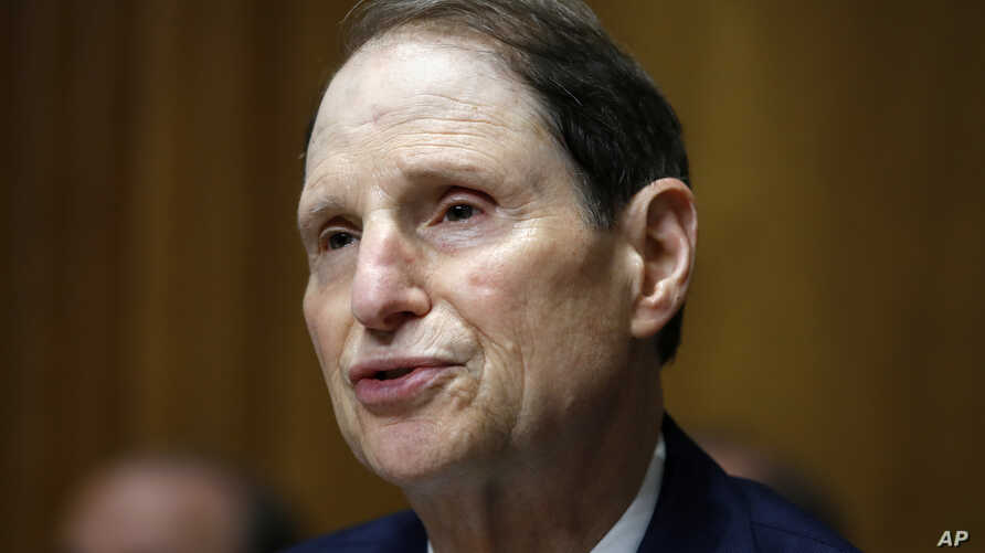 In this June 28, 2018, file photo, Sen. Ron Wyden, D-Ore., ranking member of the Senate Finance Committee, speaks during a hearing on the nomination of Charles Rettig for IRS Commissioner on Capitol Hill in Washington.