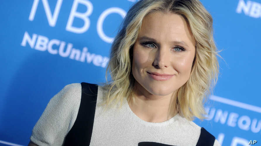FILE - Kristen Bell at The 2017 NBCUniversal Upfront in New York City.