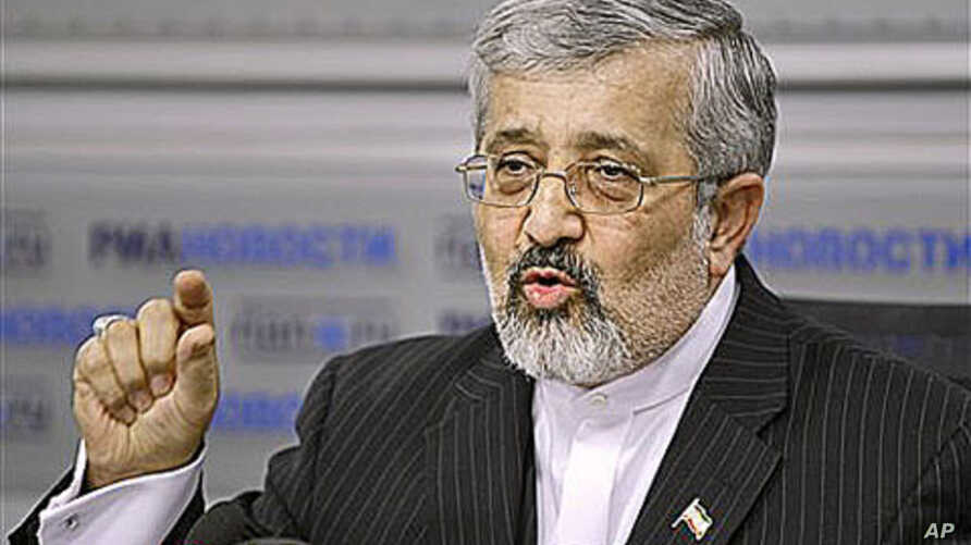 Iran's ambassador to the UN's International Atomic Energy Agency, Ali Asghar Soltanieh, speaks at a news conference in Moscow, Russia, saying the Istanbul talks are a 'window for an honorable path for the West to get out of the present impasse,' 20 J