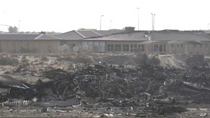 A general view shows the military compound where a 747-400 Boeing cargo plane operated by United Parcel Service Inc crashed, 05 Sep 2010 (file)