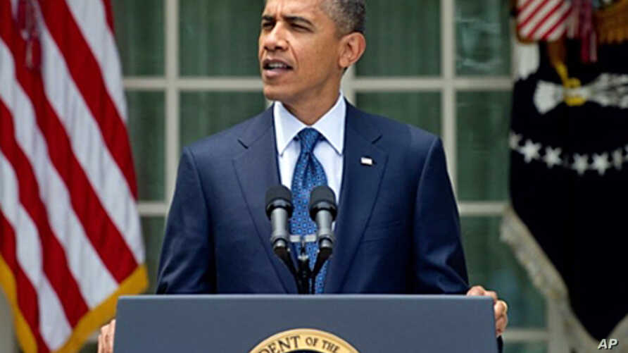 President Obama speaking in the Rose Garden of the White House, after a bipartisan meeting with members of Congress, 27 Jul 2010